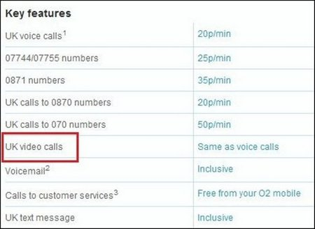 o2 uk iphone video calls price 468 Neue Tarife von o2 UK   Hinweis auf Video Calls beim iPhone