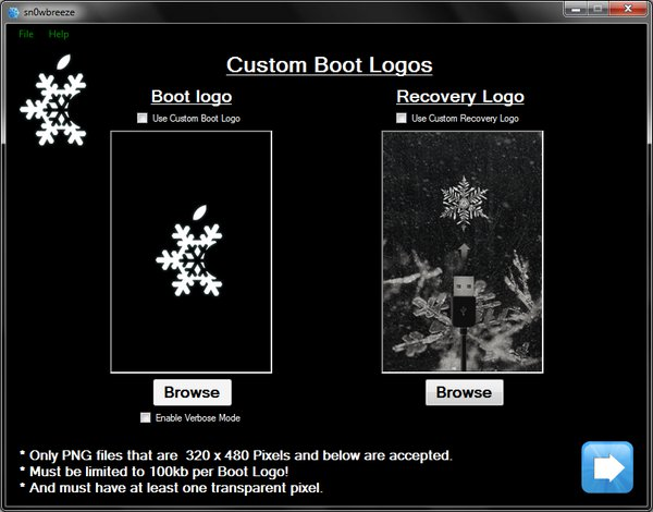 sn0wbreeze-custom-bootlogos