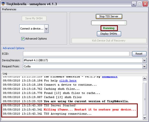 tinyumbrella tss-server