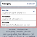 youtube upload iOS 4.2