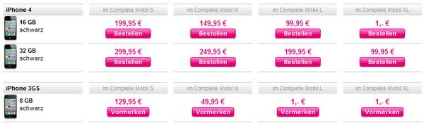 Telekom - Zuzahlung zu den Complete Mobil