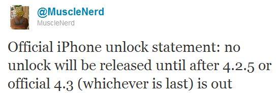 kein Unlock für iOS 4.2.1