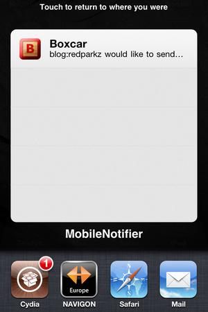 Mobile Notifier - PN Übersicht