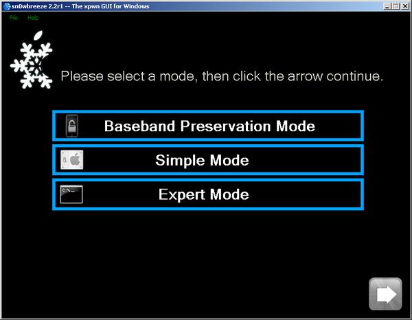 sn0wbreeze-2.2-mode