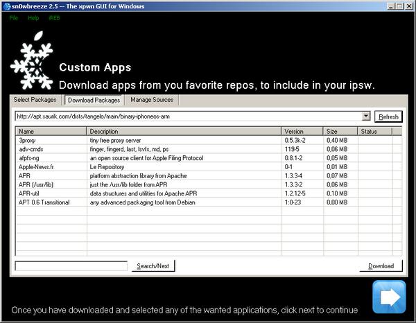sn0wbreeze-custom-apps
