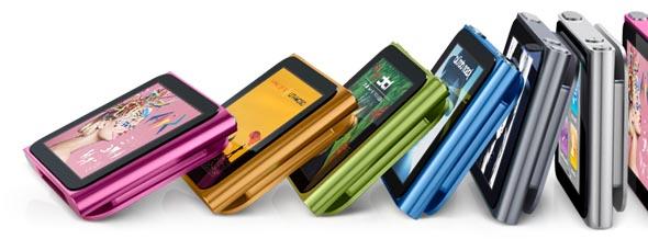 Farbvarianten des iPod nano