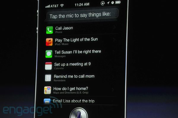 iphone4s siri iPhone 4S vorgestellt   A5 Dual Core Prozessor, bessere Grafik, 8MP Kamera und Siri Sprachassistent [Update]