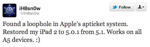 iPad 2 Downagrade