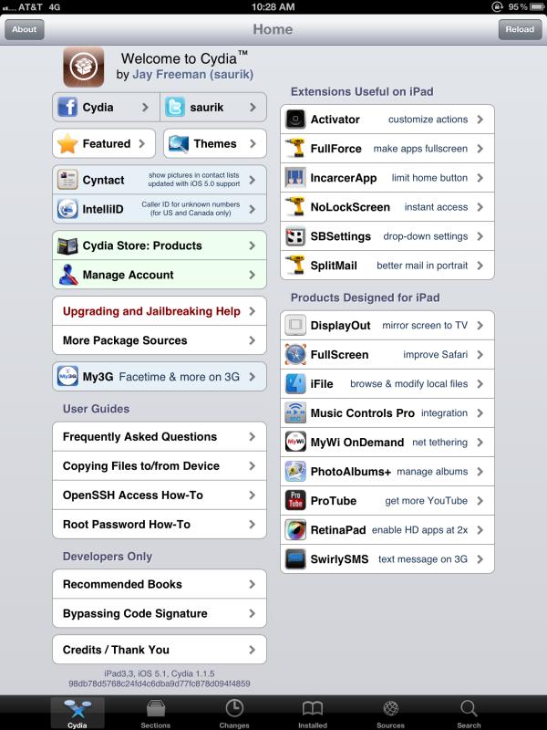 iPad 3 Jailbreak - Cydia