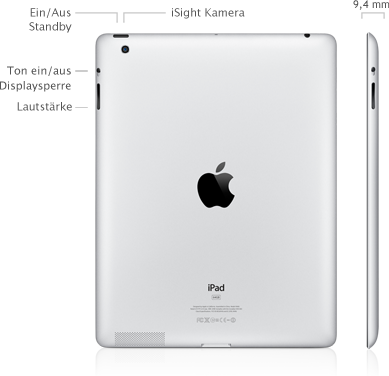 new ipad back Apple iPad   Übersicht