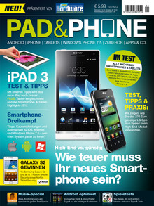 padphone Pad & Phone Ausgabe 1 als Gratis Download – Nr. 2 im Handel