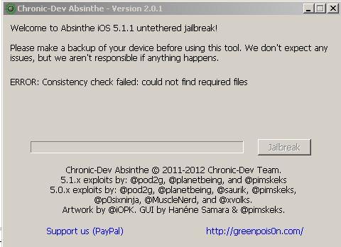 Absinthe 2.0.1 untethered jailbreak Absinthe 2.0   Untethered Jailbreak für iOS 5.1.1 veröffentlicht