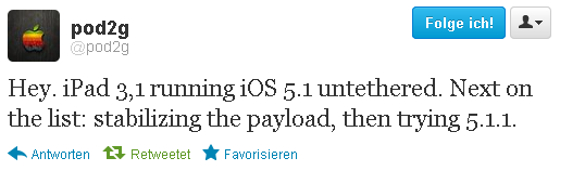 ipad3 untethered jailbreak1 Untethered iPad 3 Jailbreak erfolgreich unter iOS 5.1 [Videoupdate]
